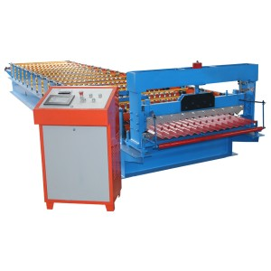 Corrugated ụlọ Panel Roll akpụ Machine