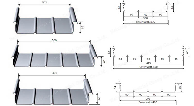 common standing seam roof sheets profile