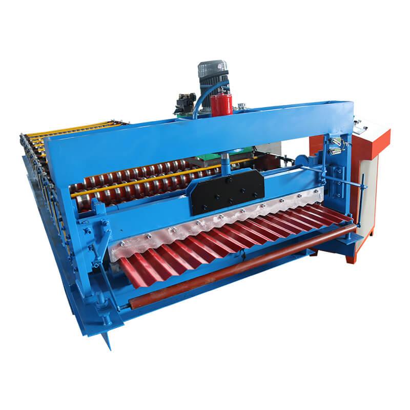 factory customized Color Stone Roof Sheet Macking Machine - Building material machinery corrugated sheet metal roof – Haixing Industrial