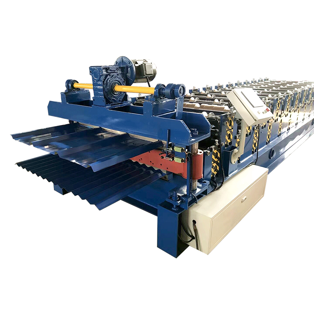 Top Quality Slitting Rewinding Machine - Trapezoidal Tile Double Roll Forming Machine – Haixing Industrial