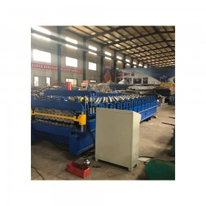 Double layer mobile glazed or ibr roof sheeting machines
