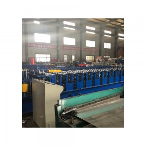 PLC control double styled glazed metal roof tile forming machine