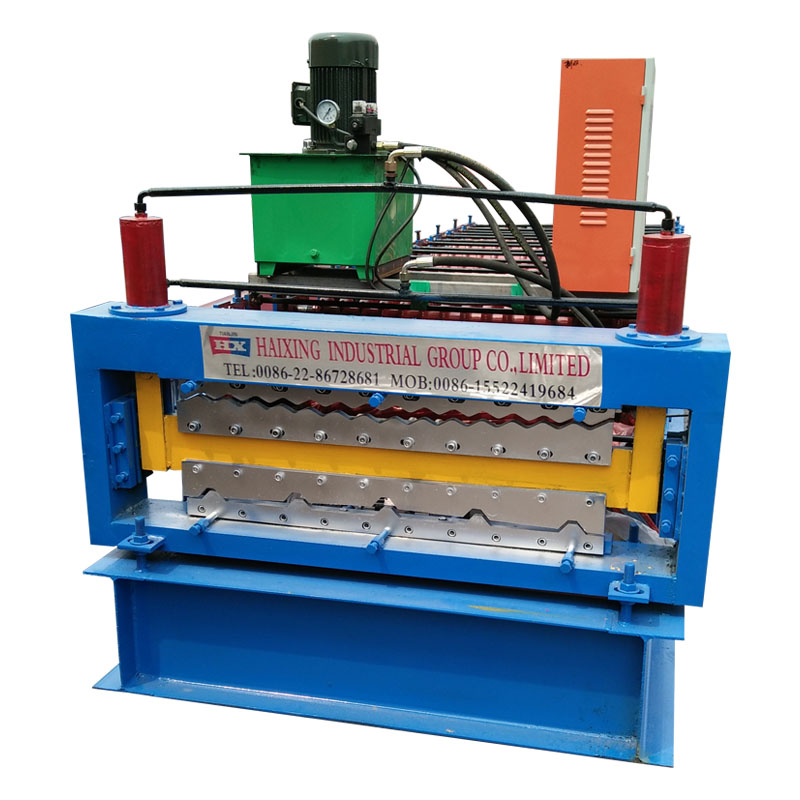 Factory wholesale Hydraulic Plate Bending Machine - Zinc Roofing Double Layer Sheet Roll Forming Machine – Haixing Industrial