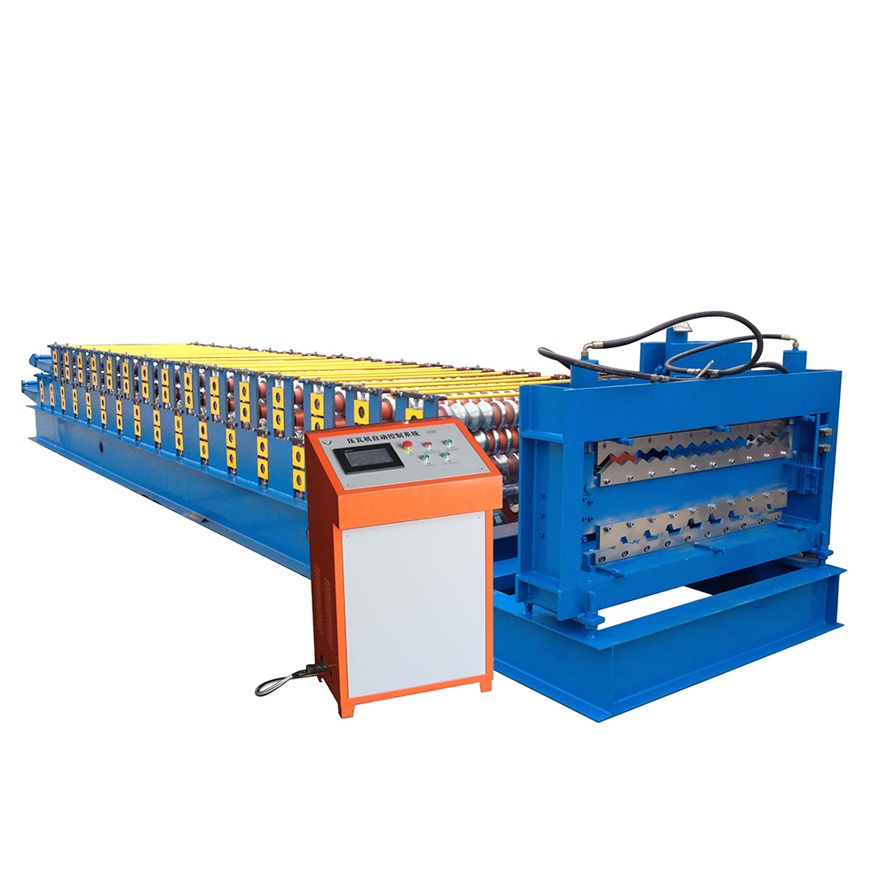 New Arrival China Sheet Metal Roof Machine - Corrugated Roof Double Layer Roll Forming Machine – Haixing Industrial Featured Image