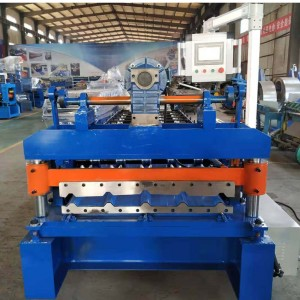 Electric cutting trapezoidal roof roll forming machine