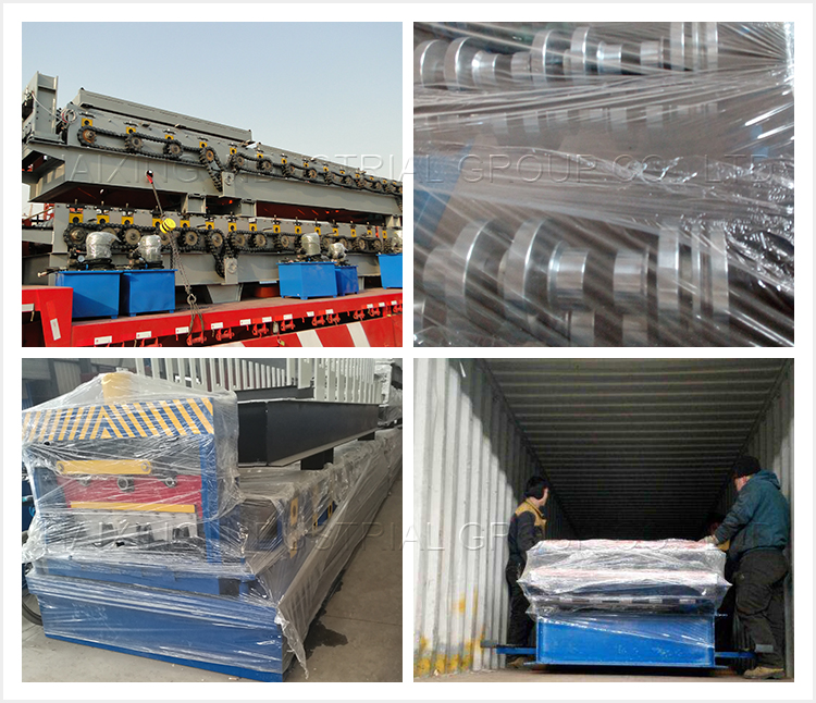 floor deck machine packing