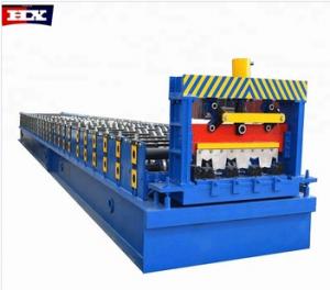 Máquina de rollos fabrica chapa para piso suelo en construcción