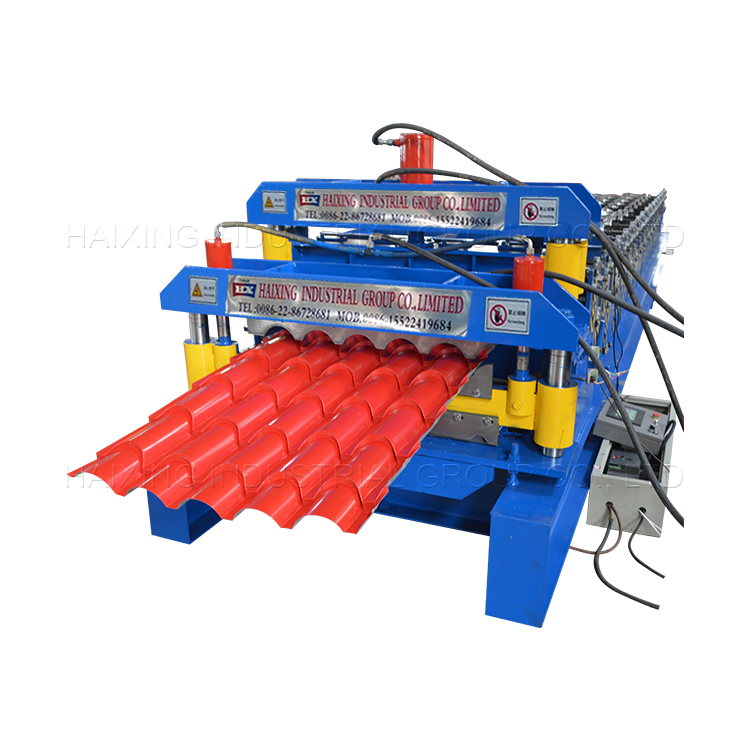 PriceList for Two Waves Highway Guardrail Machine - Wholesale Dealers of Hot Selling New Arc Glazed Steel Roof Tile Roll Forming Machine – Haixing Industrial