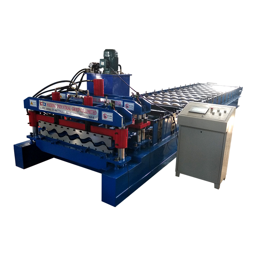 Quality Inspection for Corrugated Sheet Bending Machine - OEM Glazed Roof Tile Roll Forming Machinery For Mexico – Haixing Industrial