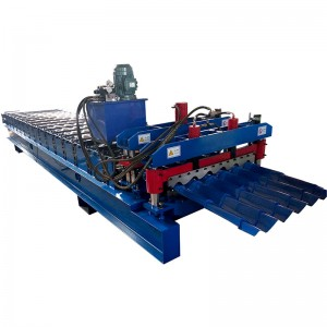 Glazed Roof Tile Roll Forming Machine For Steel