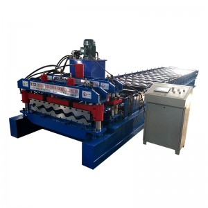 Building Material Machinery Glazed Tiles Roofing Sheet Making Machine