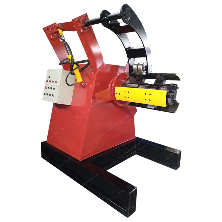 Sheet Metal Hydraulic Decoiler With Trolley Featured Image