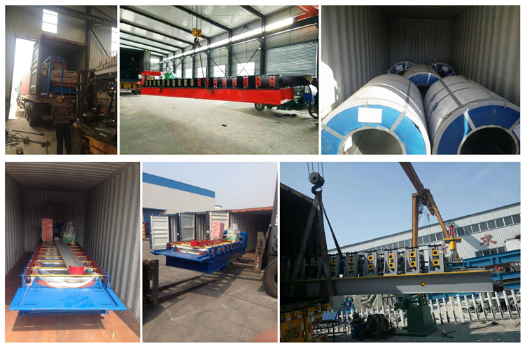 roof curving machine packing