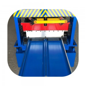 Standing seam roofing sheet cutting machine